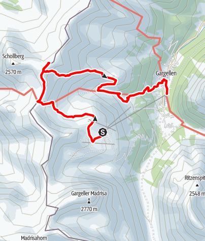 Karte / Gipfelwanderung Riedkopf