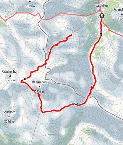 Map / Madrisa Rundtour
