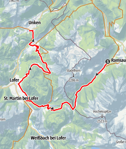 Map / Watzmann-Hochkönig North-Loop: Stage 1: Hintersee – Unken