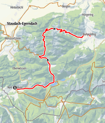 Map / Watzmann-Hochkönig North-Loop: Stage 3: Reit im Winkl - Ruhpolding