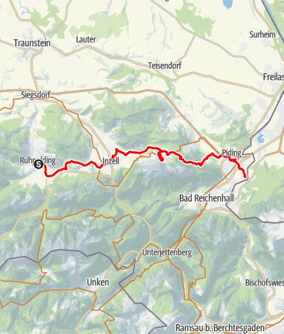 Map / Watzmann-Hochkönig North-Loop: Stage 4: Ruhpolding – Marzoll