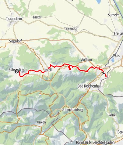 Karte / Watzmann-Hochkönig Nord-Runde: Etappe 4: Ruhpolding – Marzoll