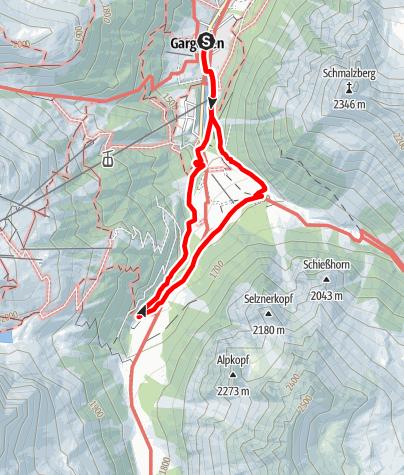 Karte / Kinderwanderweg Gargellen