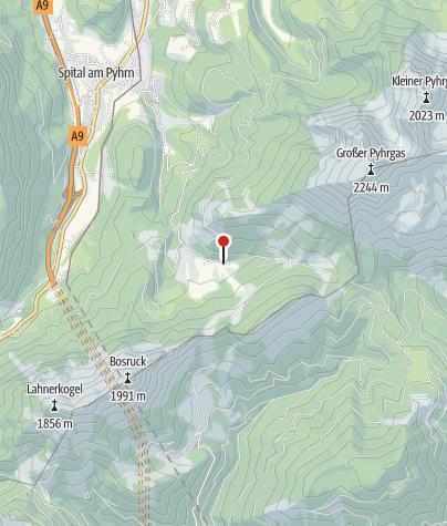 Karte / Bosruckhütte
