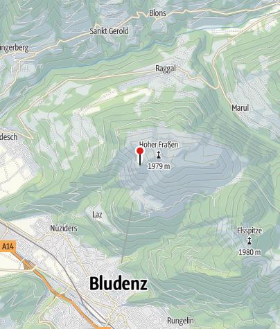 Kaart / Frassenhütte