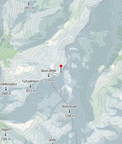 Kaart / Gernot-Röhr-Biwak