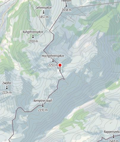 Karte / Fiderepasshütte
