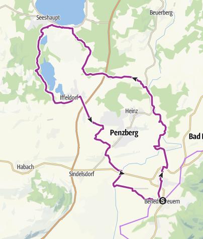 Karte / Zu den Osterseen