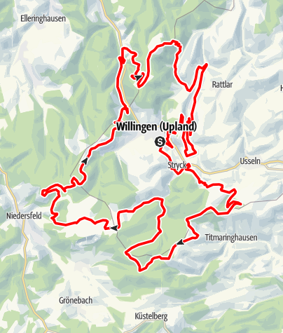 Karte / Bike Arena Sauerland - Willinger Trail-Quartett Nr. 45