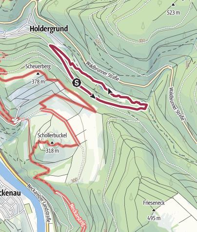 Karte / Holdergrund-Rundweg - Der Erlebnisreiche
