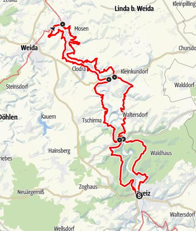 Karte / Elsterperlenweg