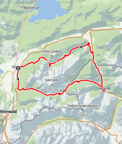 Map / Von Krün um die Soierngruppe