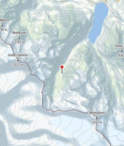 Kaart / Klostertaler Umwelthütte