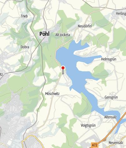 Karte / Talsperre Pöhl: Tourist-Information