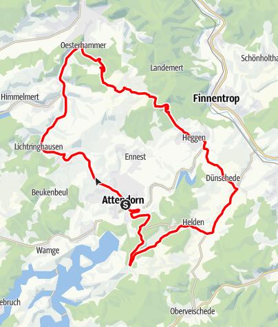 Karte / Bike Arena Sauerland - Heldenrunde