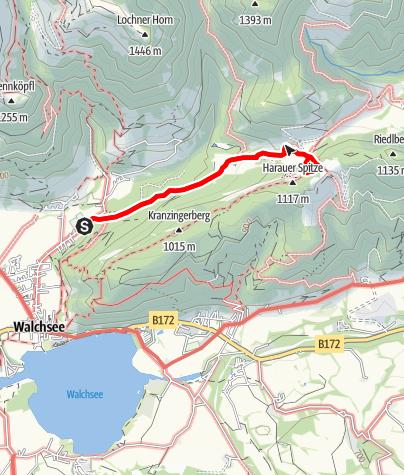 Karte / Ottenalm - Direttissima Klettersteig
