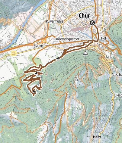 Map / Juchs / Schönegg