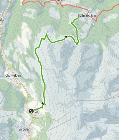 Map / Parpan - Churer Joch - Tschiertschen