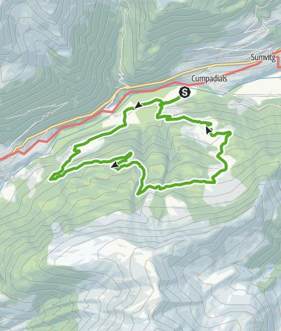 Karte / Lag da Laus bei Sumvitg