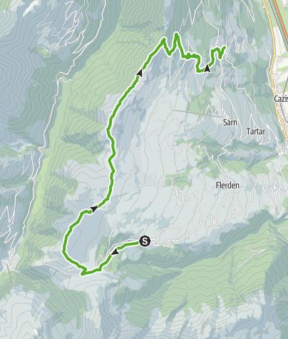 Karte / Heinzenberger Gratwanderung