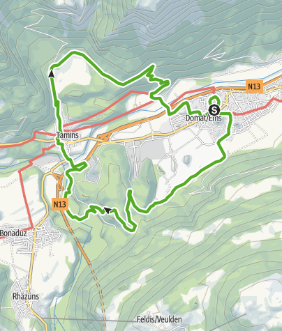Karte / Emser Tuma- und Rheinhöhen