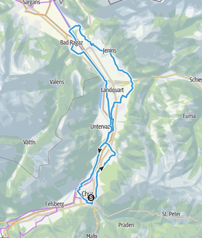 Map / Round trip Graubünden Rhine Valley - Bündner Herrschaft