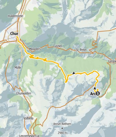 Map / Enduro tour Arosa - Chur
