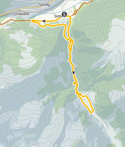 Karte / Surrein- Val Sumvitg - Surrein