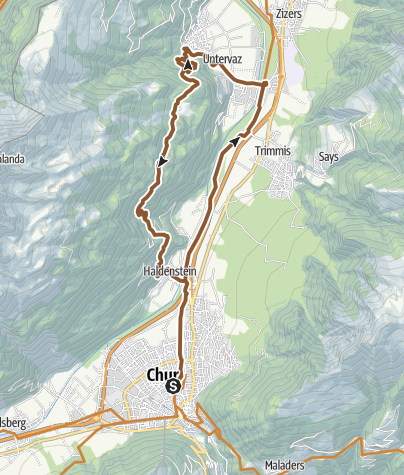 Map / Chur - Herrentobel - Chur