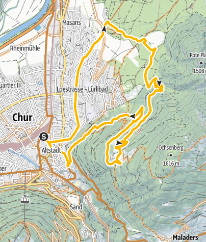 Karte / Mittenberg Rundtour