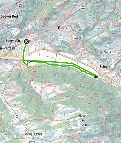 Map / Stroll along the murmuring river Landquart