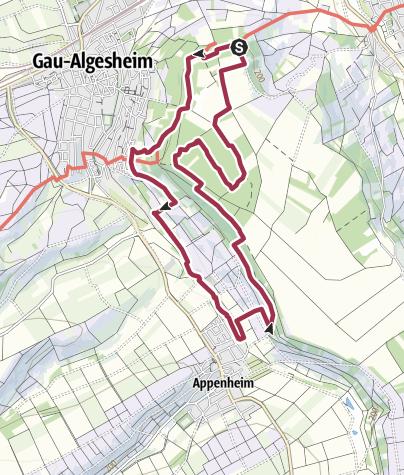 Karte / Hiwweltour Bismarckturm