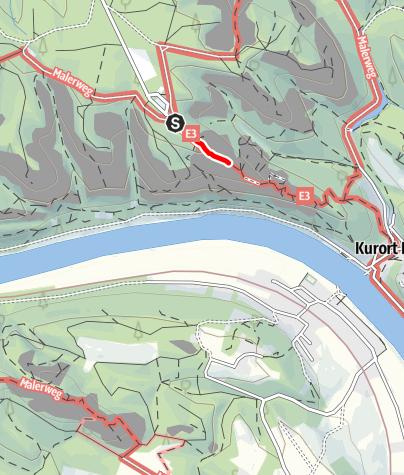 Karte / Rollstuhltour Basteiaussicht
