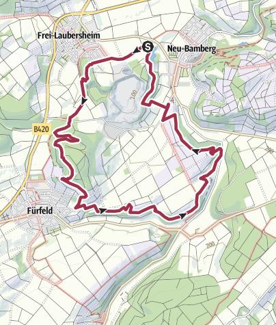 Kaart / Hiwweltour Eichelberg