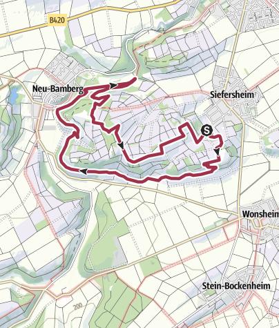 Map / Hiwweltour Heideblick