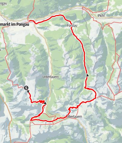 Karte / Salzburger Almenweg Etappe 22 -26