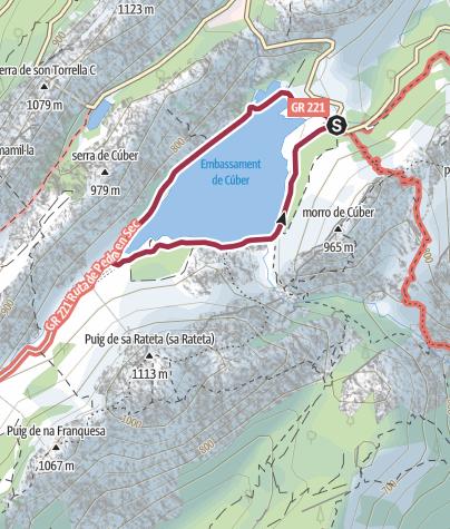 Mapa / Vuelta al embalse de Cúber en Mallorca