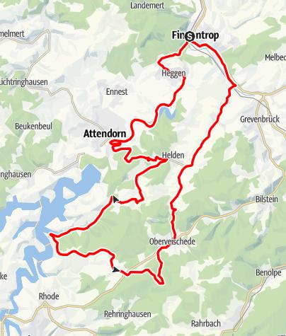 Karte / Bike Arena Sauerland - Seenrunde