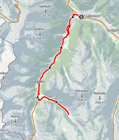 Karte / Vergaldaalpe Tour