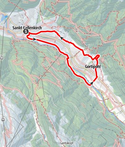 Karte / Kinderwanderweg St. Gallenkirch-Gortipohl