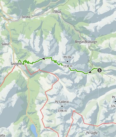 Map / Trans Parc Ela - 3 Pässewanderung