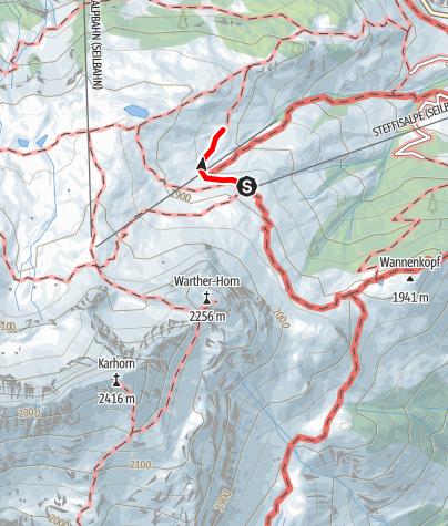 Karte / Von der Bergstation Steffisalp zur Punschhütte