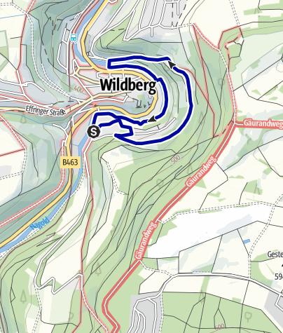 Karte / Auf den Spuren des Schäfers durch Wildberg - Tour I