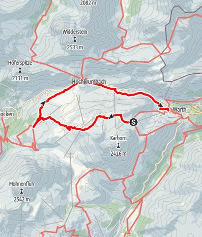 Karte / Von der Bergstation Steffisalp zum Körbersee und Kalbelesee