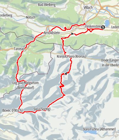 Map /  Dreiländer-Tour (Three Country Tour)