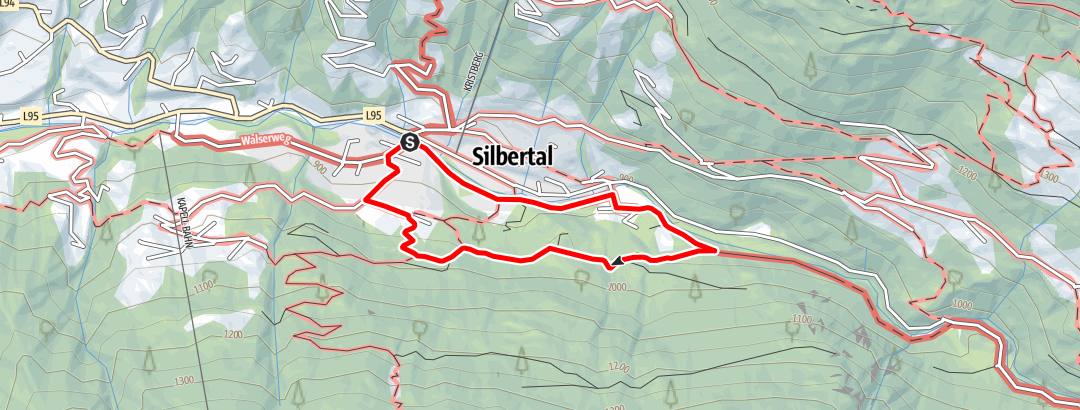 Karte / Kinderwanderweg Silbertal