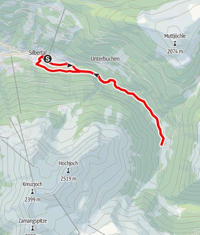 Karte / Silbertal - Litzlauf