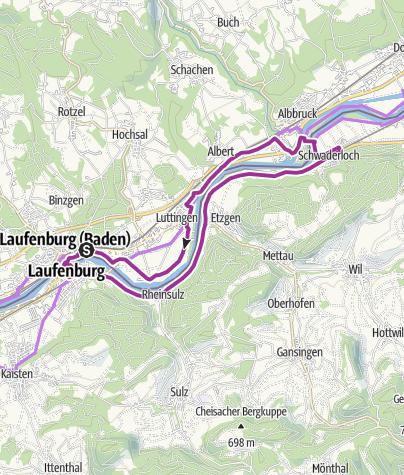 Karte / Laufenburg: Jubiläumspfad