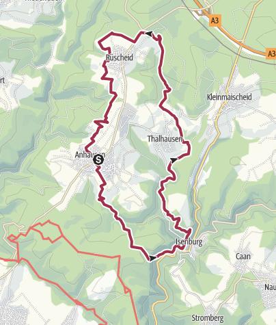Kaart / Wäller Tour Iserbachschleife