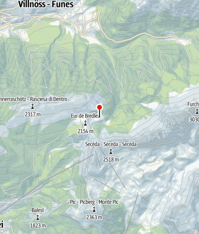 Mapa / Brogleshütte (Malga Brogles)